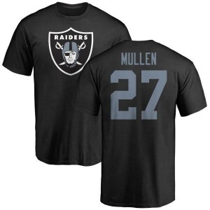 Trayvon Mullen Oakland Raiders Youth Black Any Name & Number Logo T-Shirt -