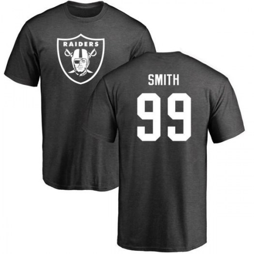 Aldon Smith Oakland Raiders Men's Pro Line by Branded One Color T-Shirt - Ash